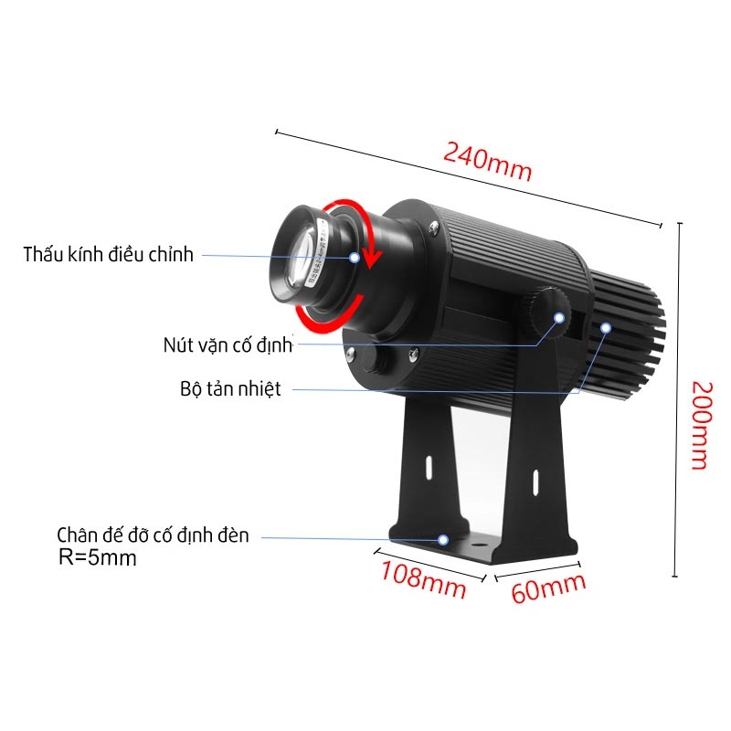 Kích thước đèn 25w