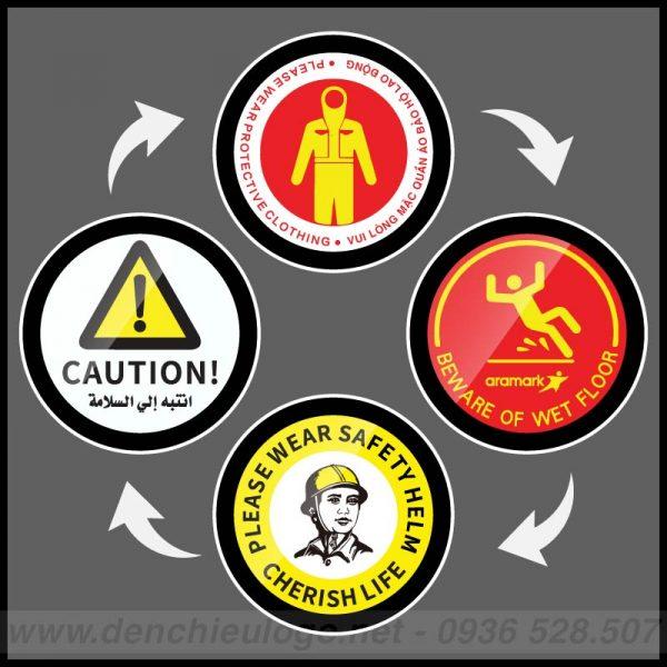Đèn chiếu 4 logo